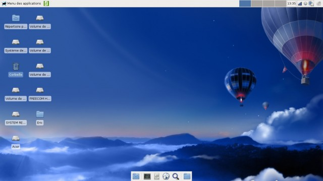 Fedora avec xfce version 17