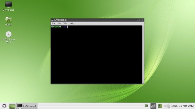 Linux Mint 12 LXDE terminal