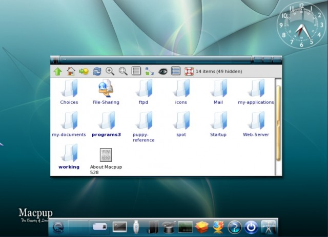 Macpup file manager