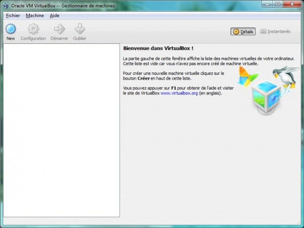 VirtualBox en action