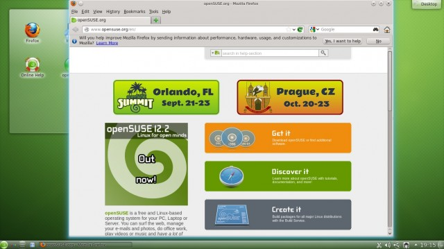 Opensuse 12.2 Site internet officiel