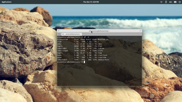 Elementary terminal Linux