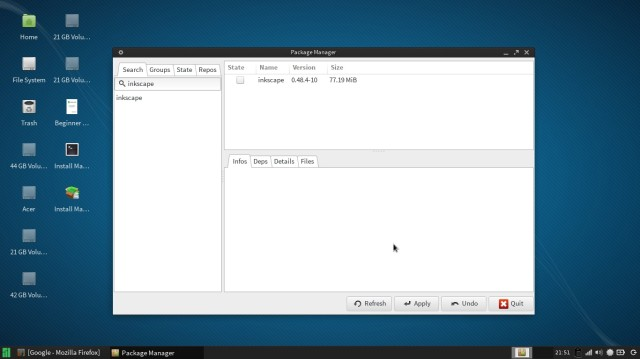 Manjaro le package manager