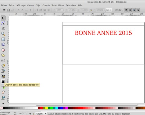 Insertion texte Inkscape