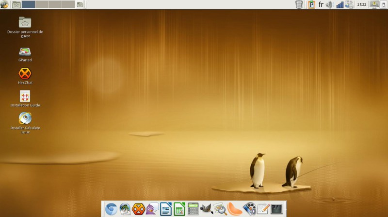 Calculate Linux le Dock