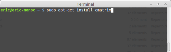 Comment installer cmatrix