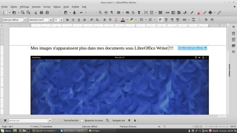 LibreOffice Writer images