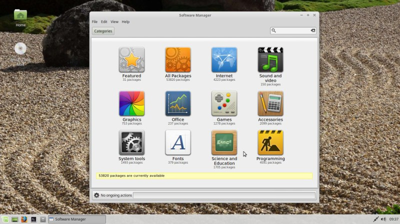 Linux Mint 18 xfce software manager