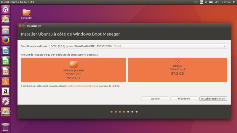 Ubuntu à côté de Windows