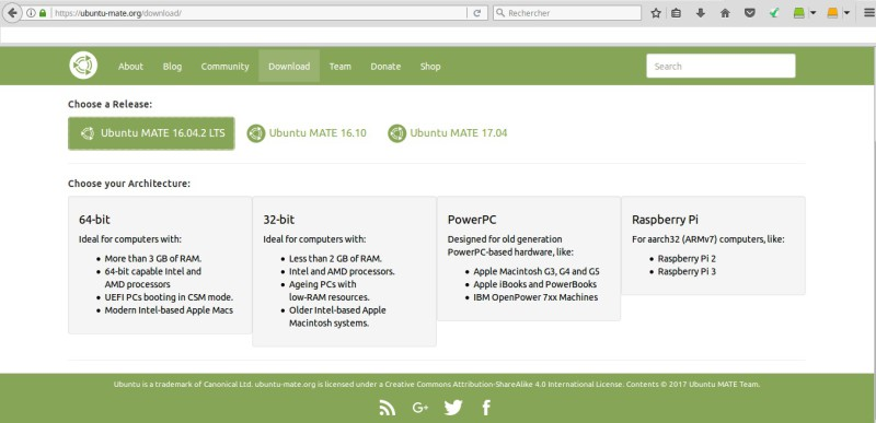 Site Ubuntu Mate Download