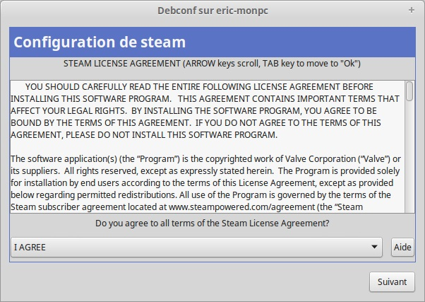 Steam licence I agree