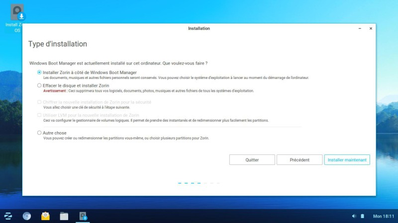 Zorin os partitions