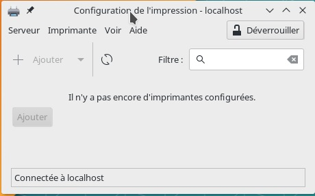 Gestionnaire d'impressions Manjaro