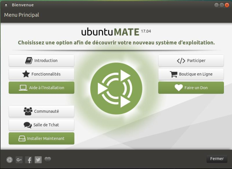 Binevenue Ubuntu Mate