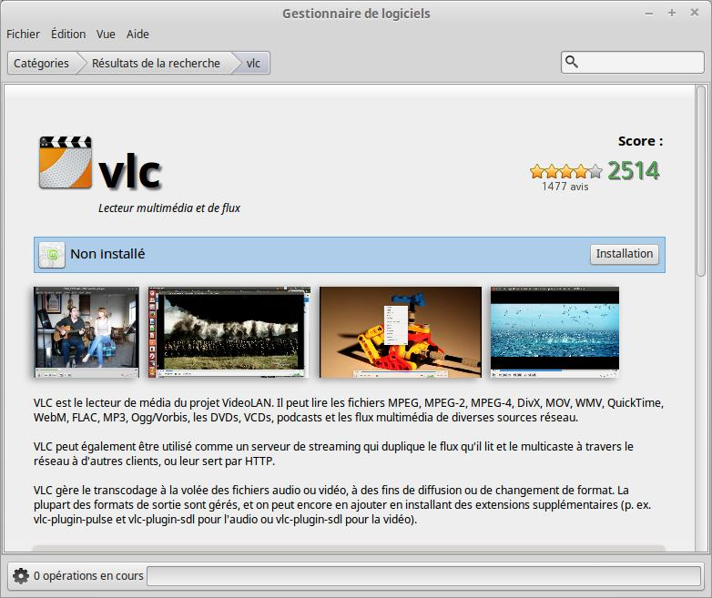 vlc installation sous Linux