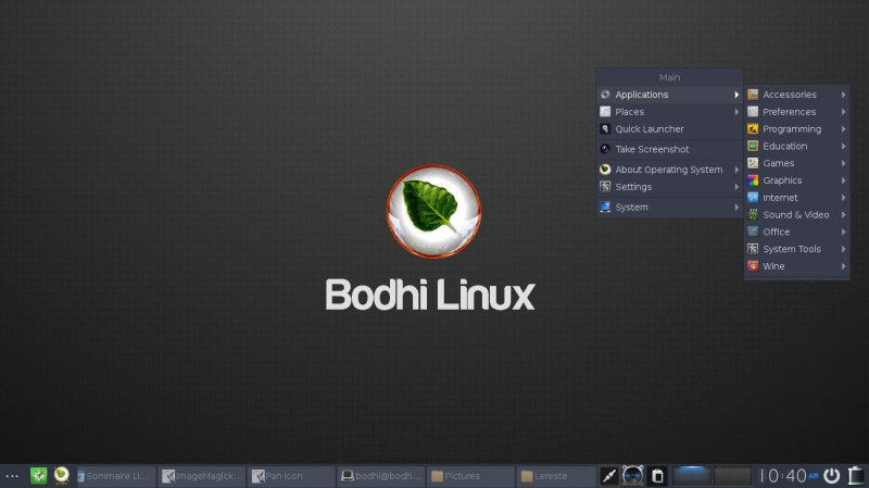 bodhi linux 4 2 0 enlightenment le test les images. Black Bedroom Furniture Sets. Home Design Ideas