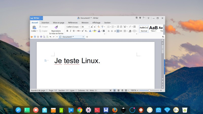 Suite office wps Deepin