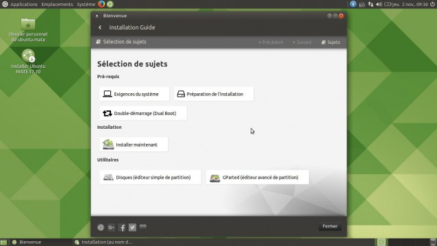 Ubuntu Mate 17.10 guide d'installation