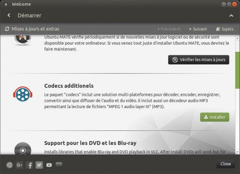 Installer les codecs sous Ubuntu Mate