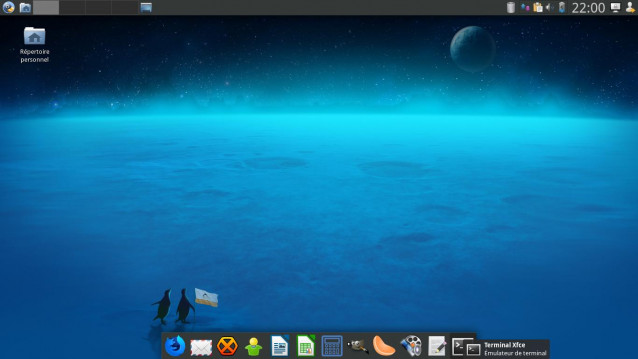 Le dock de Calculate Linux 18 XFCE